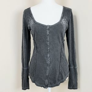 Free people embroidered cotton top